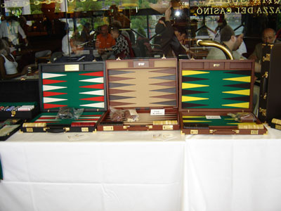 backgammon boards in colors